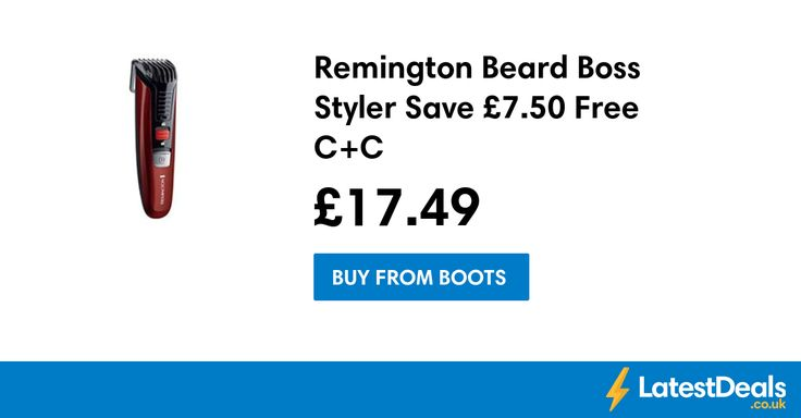 Great Fathers Day Gift Remington Beard Boss Styler Save £7.50 Free C+C, £17.49 at Boots