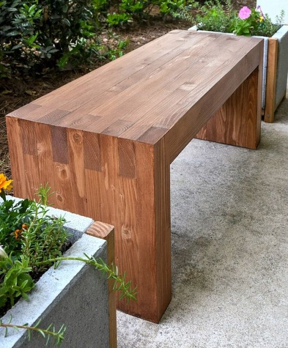 Outdoor/Indoor Bench by TheCedarGrove on Etsy