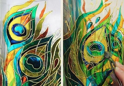 Расписываем вазу красками по стеклу - Ярмарка Мастеров - ручная работа, handmade