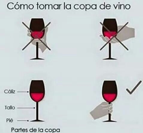 Cómo tomar la copa de vino.