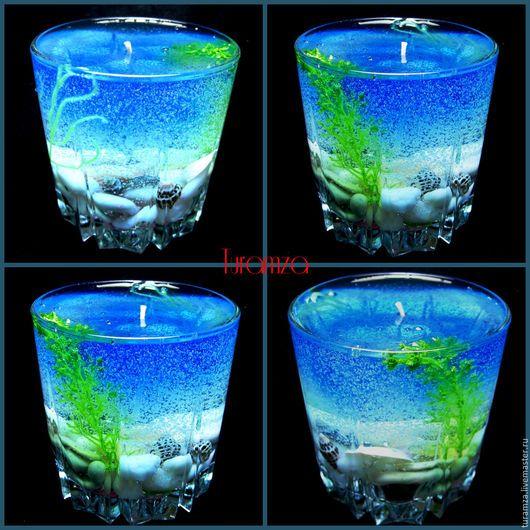 Свечи ручной работы. Ярмарка Мастеров - ручная работа. Купить Гелевые свечи. Handmade. Свеча гелевая, свеча в подарок, лесной