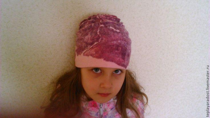 """Купить Шапочка для девочки """"Весеннее настроение"""" - розовый, головные уборы для детей, авторская ручная работа"""