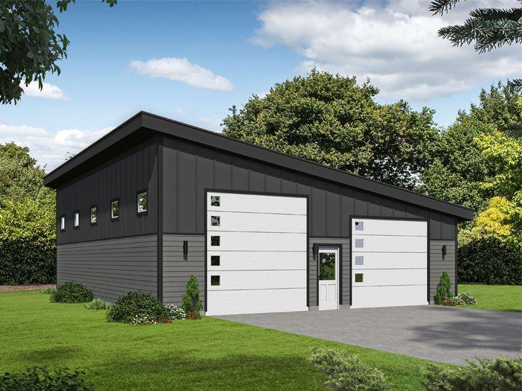 062g 0159 Modern Rv Garage Plan Plus Tandem Bay 40 X50 Rv Garage Plans Garage Design Garage Plan