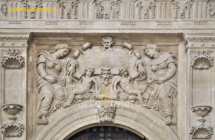 Catedral de #Granada detalle escultórico http://arteviajero.com/