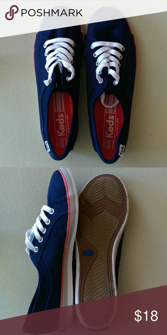 Keds tennis shoes Blue Keds shoes. Worn once or twice Keds Shoes Sneakers