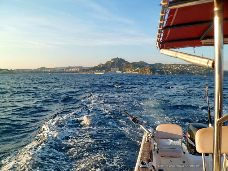 Fishing off the coast of Blanes