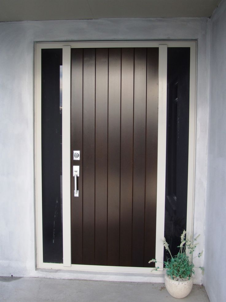 Add style with an aluminium door