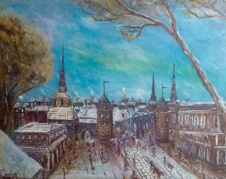 Old Tallinn Estee  oil canvas  Private collection