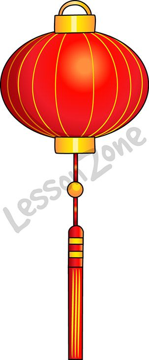 """Celebrate the Chinese New Year in your classroom with this Red Lantern.   This illustration, """" Red lanterns"""" is available in PNG format at 300 DPI resolution with a transparent background for classroom use. This illustration is also available in black and white.  To download, visit lessonzone.com.au"""