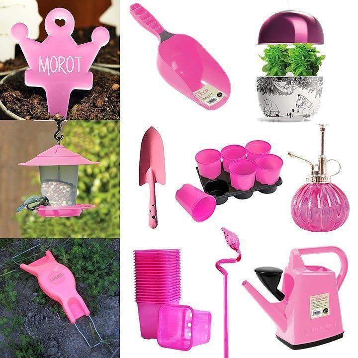 """ROSA DAGAR!  Nu skänker vi 10% till Cancerfonden när du handlar av dessa rosa produkter. Gäller tom söndag 15/10.  Sök på """"ROSA17"""" för att få upp dessa i webshoppen.   #rosamånad #rosa #cancerfonden #viskänker #fuckcancer #wexthuset #odlingsprodukter #krukor #trädgårdsredskap #vattenkanna #växtskyltar #etiketter #blomskyltar #blomspruta #plantui #inomhusodling #fågelbord"""