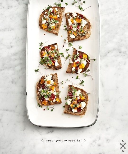 Sweet Potato And Feta Crostini | 29 Quick And Easy Oscars Party Appetizers