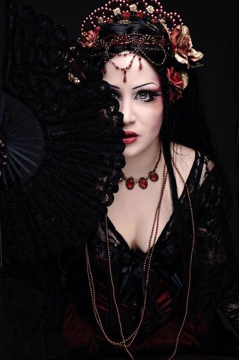 """Not what I would define as """"modern goth"""", but the deep inky black and shades of Martin, blood orange and wine reds definitely inspire."""