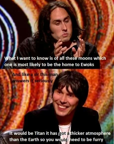 Brian Cox and Ross Noble...lake of farts.