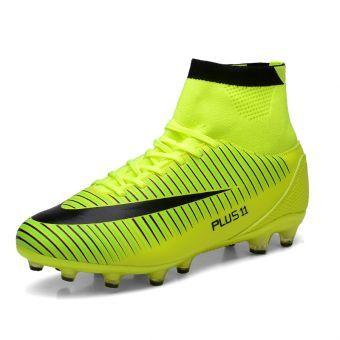 ZNPNXN-Zapatos de Ffútbol de los Hombres, Las uñas largas-Verde