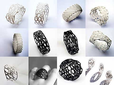 Use a 3D printer to build your own nylon jewellery
