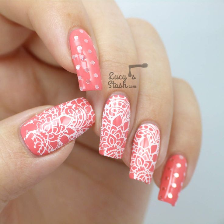 34 best Nail art by plate - Bridal 07 images on Pinterest