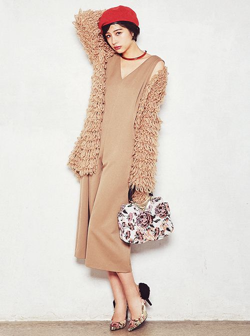 冬コーデ,vivi12月号,ViViモデル,佐久間由衣,ファッション,オールインワン,着回し