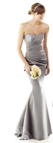 Asymmetrical Pleated Bodice And Sweetheart Neckline Mermaid Shape Dress. Linda Dresses. Wedding