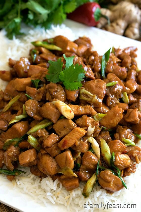 Gooey Ginger Chicken - Make this delicious restaurant-quality Vietnamese recipe at home using commonly found ingredients!