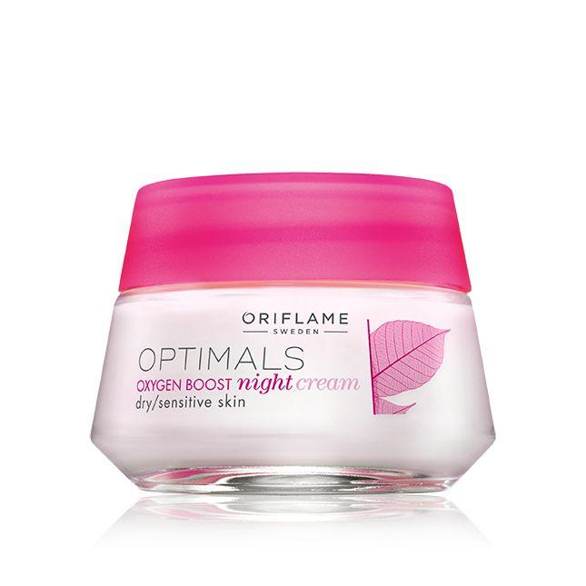 Crema de Noche Oxygen Boost para Piel Seca y Sensible Optimals #oriflame