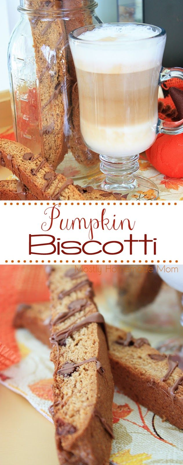 Pumpkin Biscotti - perfect with your morning coffee! Super easy to mix up and bake - be ready to make a batch to give away! #DeLonghi #artofespresso #ad