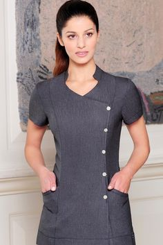 Lili Beauty Tunic | Shop Beauty Uniforms at Diamond Designs