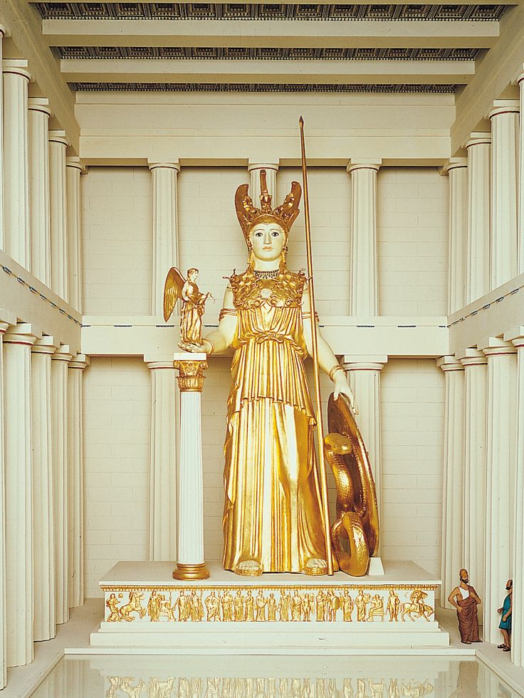 Model Of Athena Parthenos By Pheidias Ca 438 Bce Gives