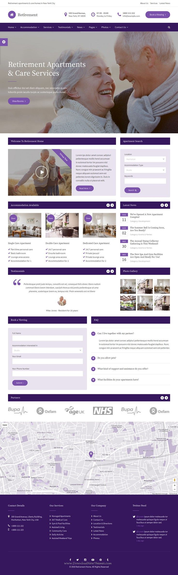 Retirement care home html template