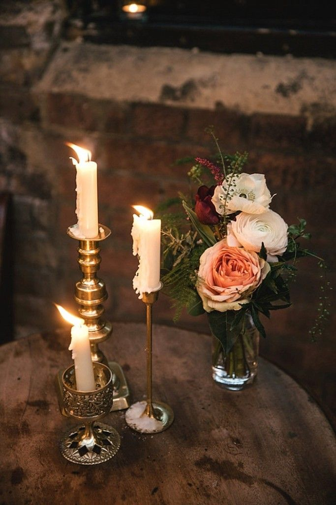 Photo Credit: Kat Hill | Cosy Romantic Urban Winter Warehouse Wedding by London Bride | MC Motors | Flowers Grace and Thorn
