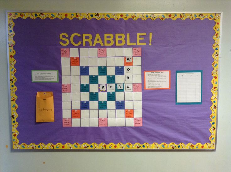 Scrabble Bulletin Board