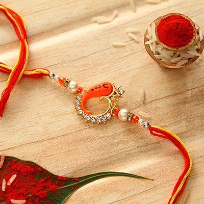 Om Ganesha Design Rakhi