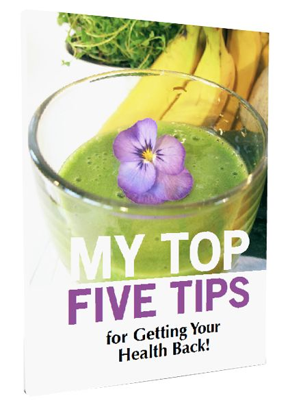 Get my free Top 5 Tips for getting your health back naturally. Just join my newsletter and I¨ll send you the pdf right away. Get it here http://www.fruitylou.com/top-5-tips/