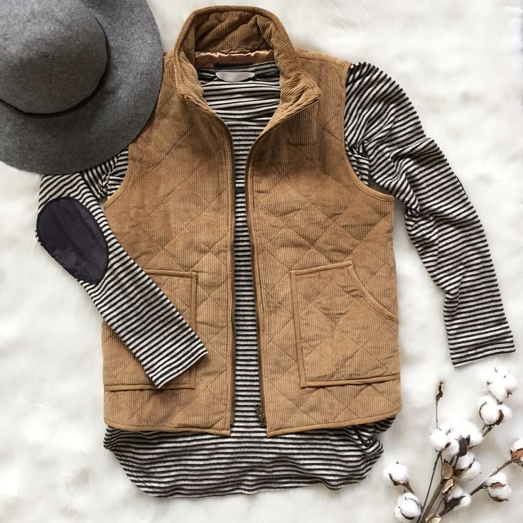 || The Camel Corduroy Vest ||  You've got the go-getter attitude, now get an outfit to match! The Burgundy Corduroy Vest is the one for you!