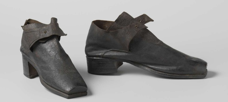 Shoes, 1690, leather, Rijks Museum Amsterdam