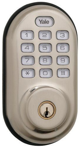 Yale Security YRD210-ZW-619 Real Living Electronic Push Button Deadbolt, Fully Motorized with Z-Wave Technology, Satin Nickel Yale Security
