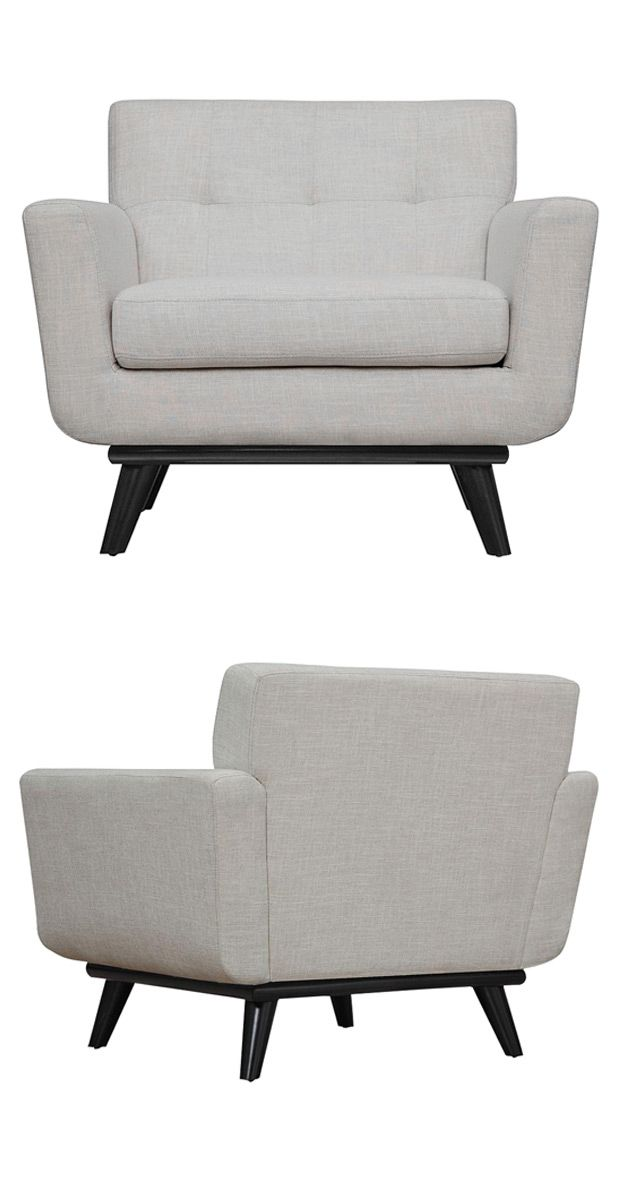 A stunning marriage of modern elegance and chic hints of mid-century design, this Spiers Armchair will prove a standout piece in any room. Beautifully upholstered with linen fabric, its seat features s...  Find the Spiers Armchair in Linen, as seen in the Lounge Chairs Collection at http://dotandbo.com/category/furniture/chairs/lounge-chairs?utm_source=pinterest&utm_medium=organic&db_sku=116958
