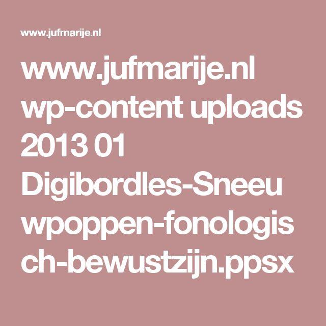 www.jufmarije.nl wp-content uploads 2013 01 Digibordles-Sneeuwpoppen-fonologisch-bewustzijn.ppsx