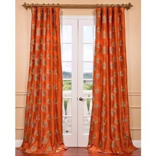 Zen Garden Harvest Orange Embroidered Faux Silk Curtain Ping Great Deals On Eff Curtains Drapery In 2018 Pinterest