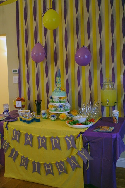 17 best images about rapunzel birthday party on pinterest for Backyard party decoration crossword