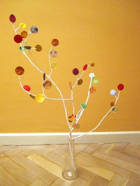 Naifandtastic:Decoración, craft, hecho a mano, restauracion muebles, casas pequeñas, boda: Tutorial: Otro árbol de papeles de colores