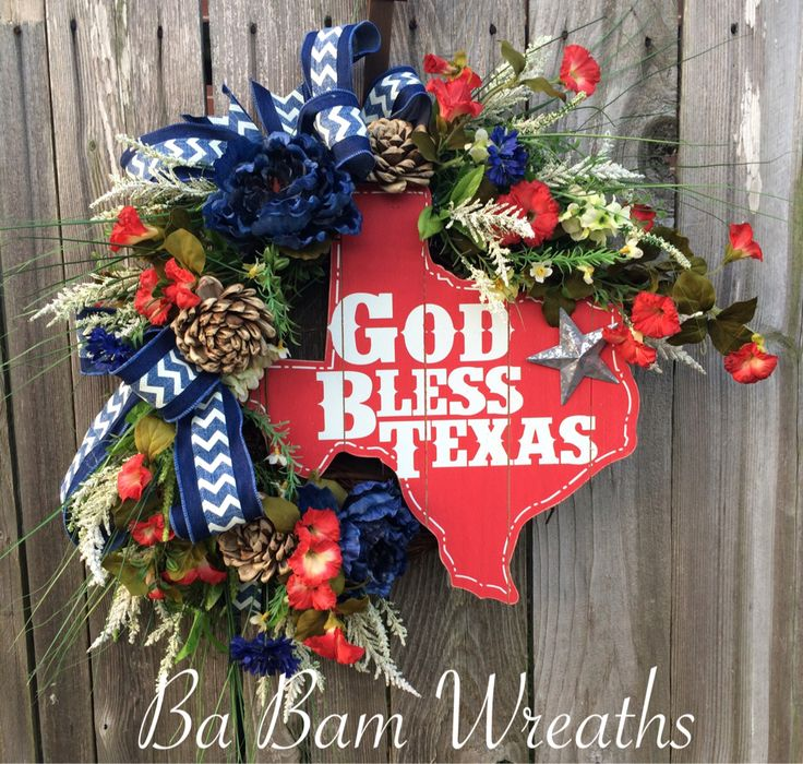 Texas Wreath By Ba Bam Wreaths