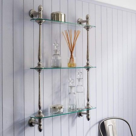 Innovative Ambience Glass Gallery Bathroom Shelf With Chrome Finish  Image 1