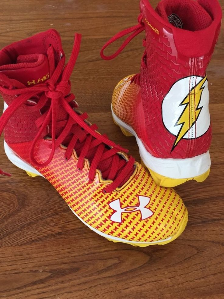 Youth Under Armour Football Cleats Size 3 Alter Ego Flash Torch Super Hero Boys #Underarmour