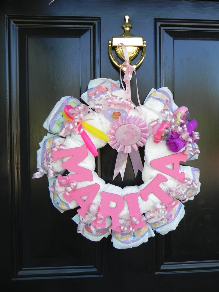 diaper wreaths on pinterest diaper wreath diapers and easy peasy