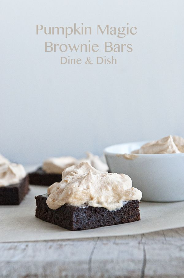 Canned pumpkin puree and another secret ingredient are the star in these Pumpkin Magic Bars with Pumpkin Magic Frosting