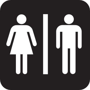 28 best Male and Female bathroom signs images on Pinterest