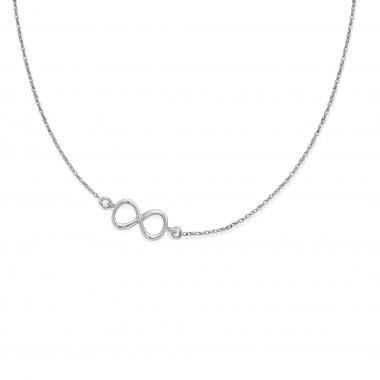 Infinity necklace by Lilou, £38, in 925 silver! Also available in 23k gold-plated #lilou #infinity #necklace #silver #goldplated