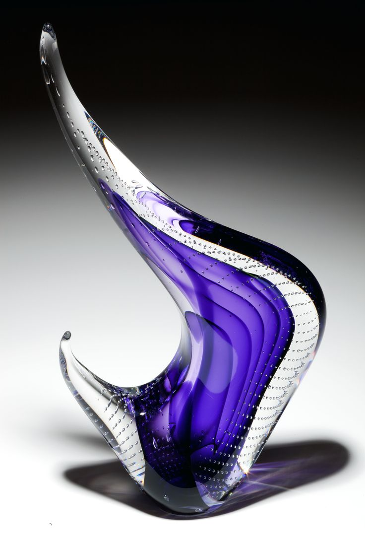 """Transparent Cygnus"" by Scott Hartley. #glassart #artglass #artwork http://www.pinterest.com/TheHitman14/art-glasscrystal-%2B/"