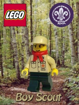 Lego Boy Scout-THIS INCLUDES THE DOWNLOAD TO MAKE YOUR OWN LEGO SCOUT!!