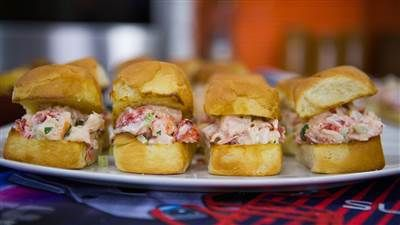 Serve up sweet, buttery lobster roll sliders for easy game-day bites